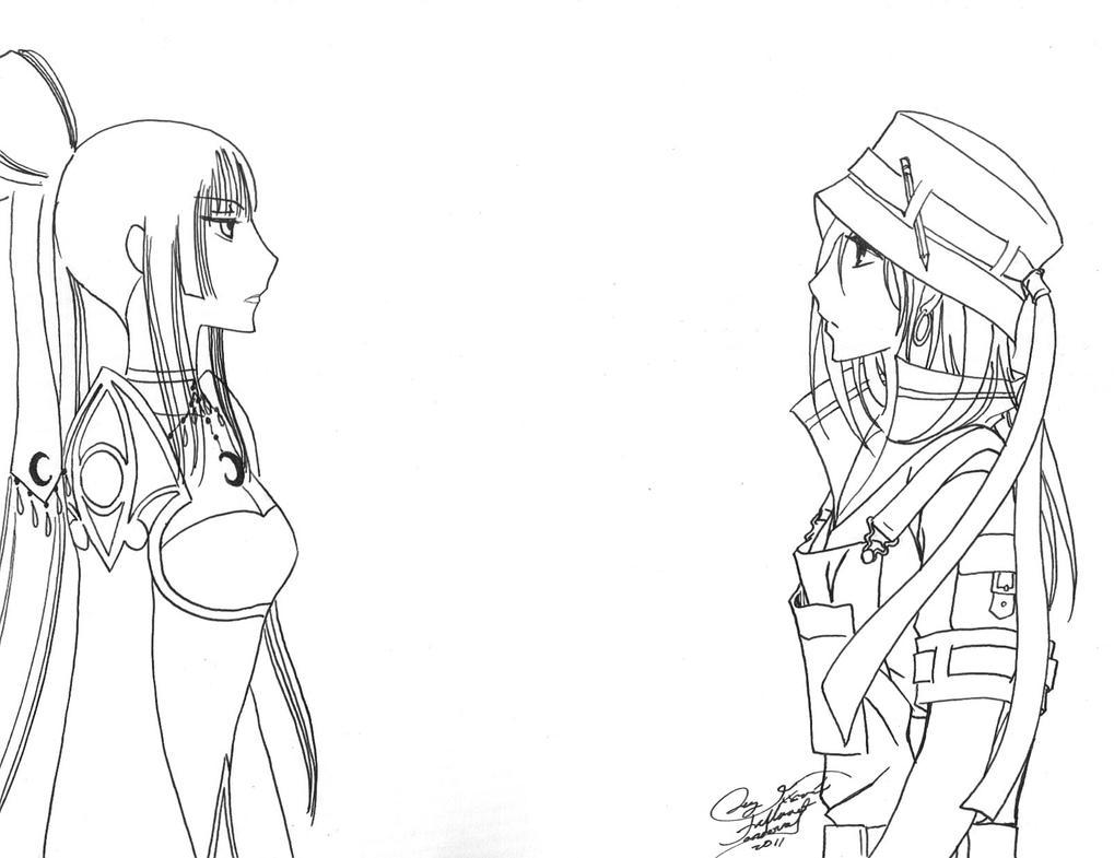 Yuuko y Lucy by LucyMeryChan