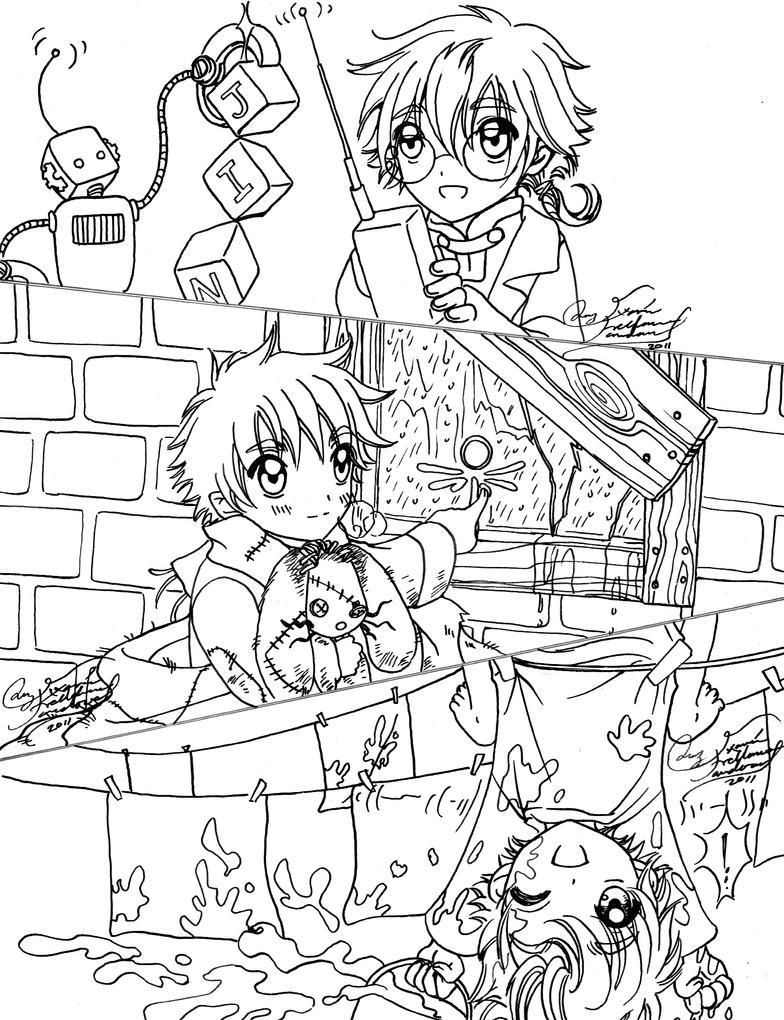 Jinzou_Akuma_Mizu_Children by LucyMeryChan