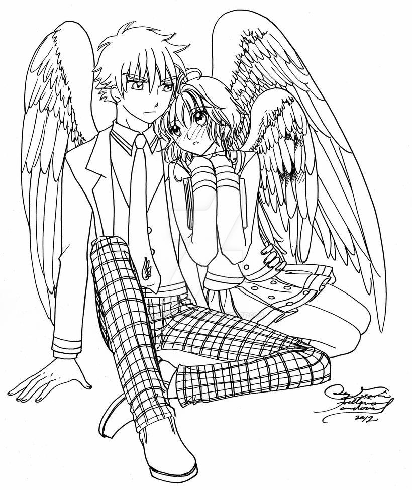 Syaoran y Sakura Tenshi by LucyMeryChan on DeviantArt