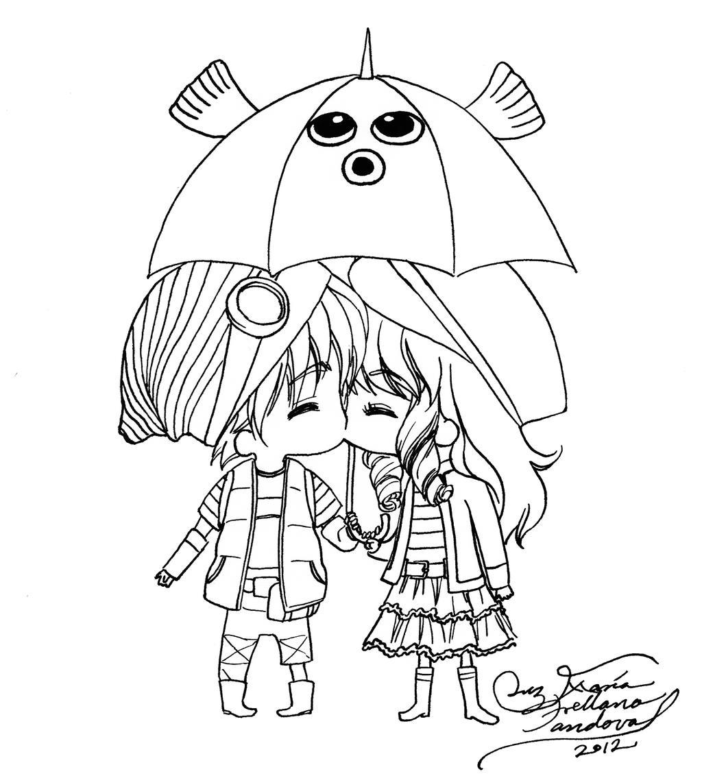 Mizu and Hikaru chibis by LucyMeryChan