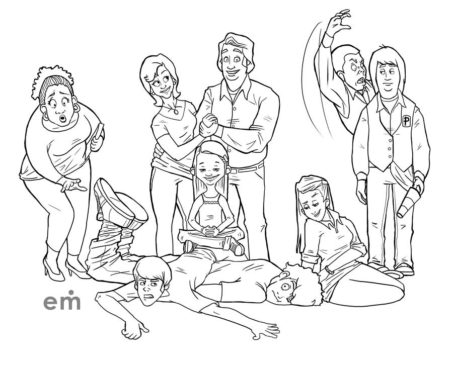Drake & josh coloring pages ~ Drake and Josh: the cartoon WIP by ElizabethMartin on ...