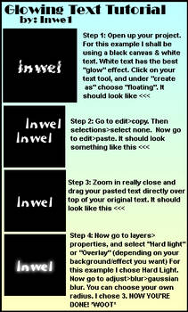 Glowing Text Tutorial-PSP-