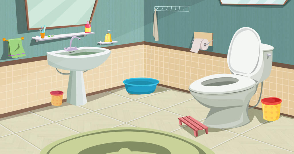 Bathroom cartoon background by Comet301 on DeviantArt