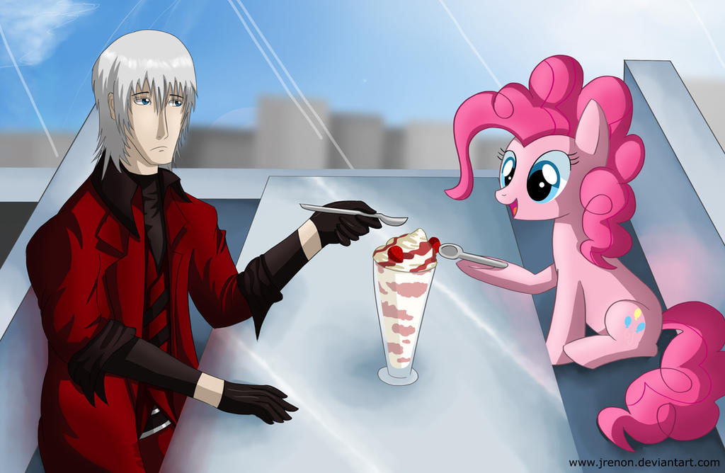 Dante meets Pinkie Pie by Jrenon