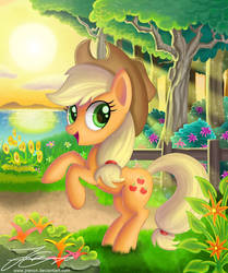Apple in the Sunset by Jrenon