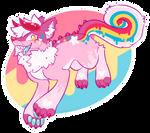 Lollipop-flavored popscicle