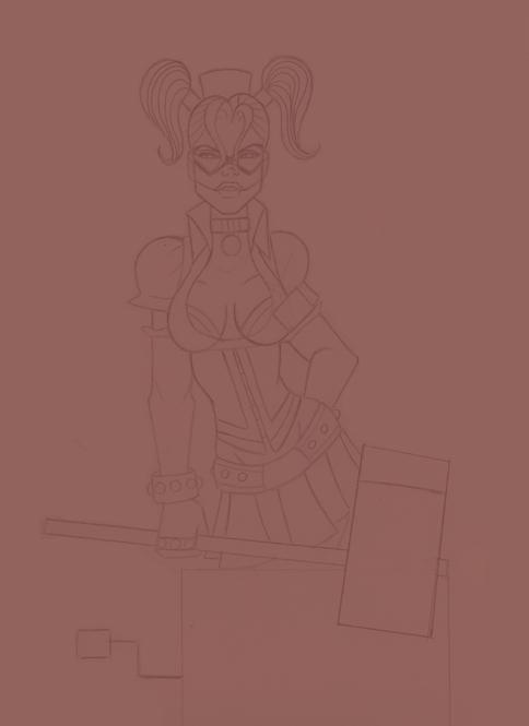 Harley Quinn wip by ebony-chan