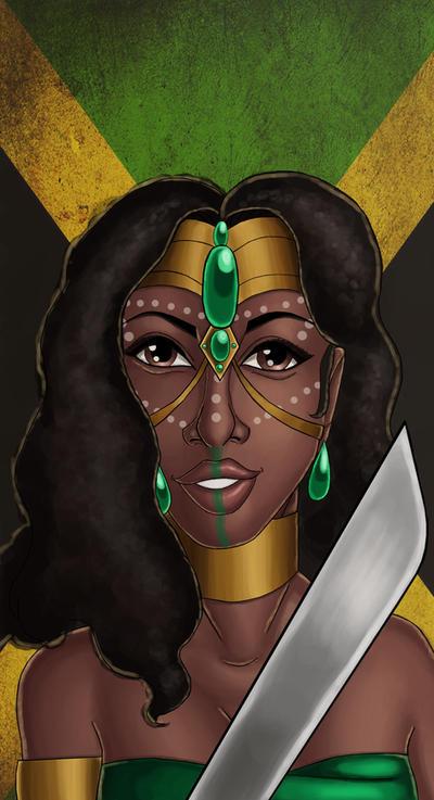 Jamaican Warrior Queen by ebony-chan