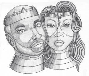 Royal couple portrait.