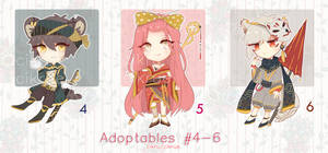 [1/3 OPEN] Adoptables 4-6: AUCTION (REDUCED PRICE)