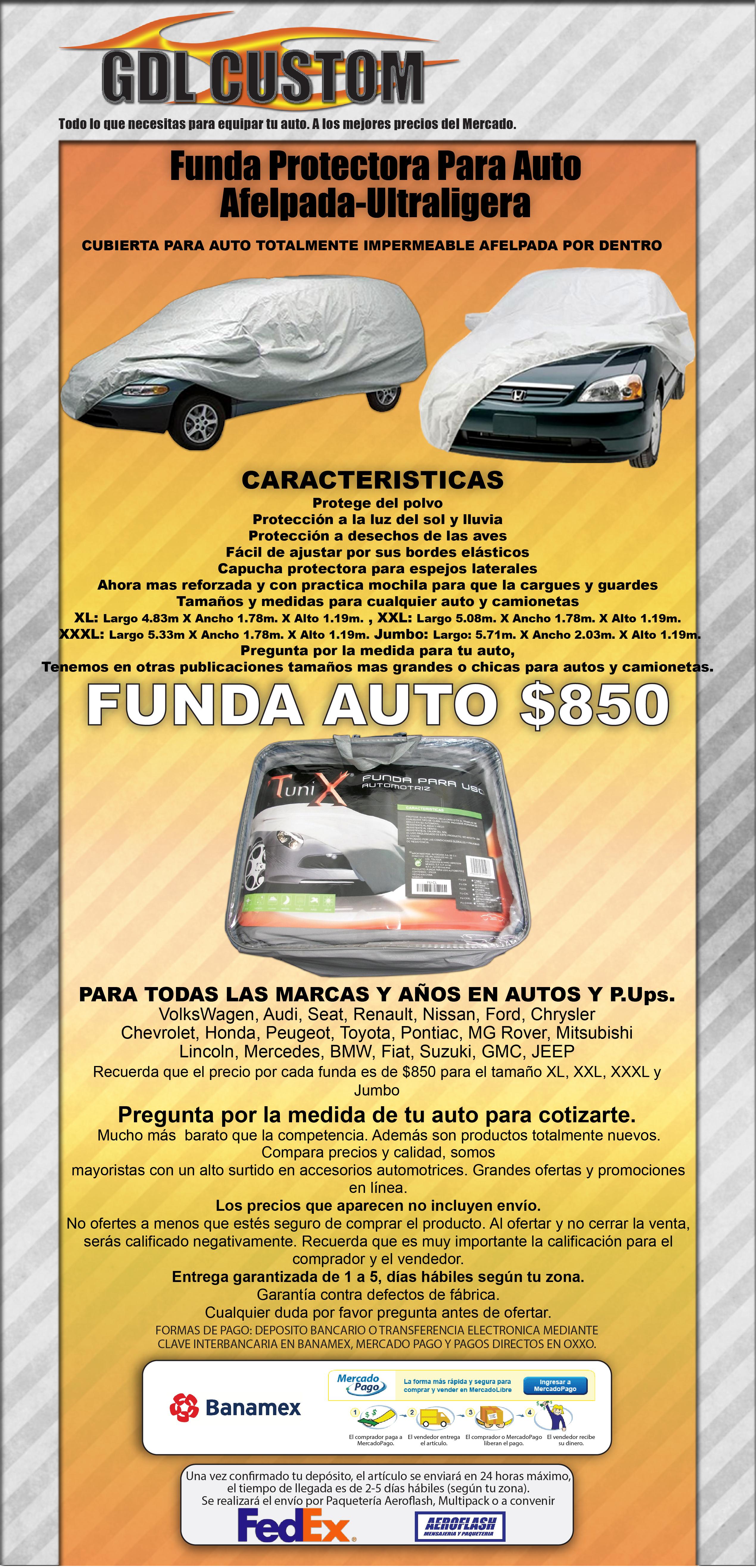 Funda protectora para auto afelpada ultraligera extra grande 890 bz6tw precio d m xico - Fundas para auto ...