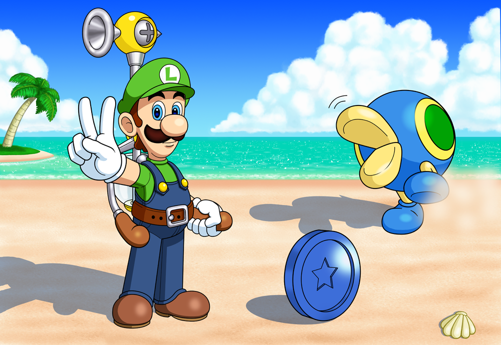 Super Luigi Sunshine by IndigoWildcat