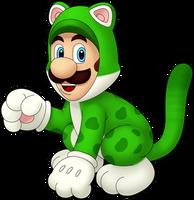 Cat Luigi!! by IndigoWildcat