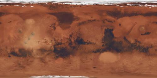Mars texture map (rare version)