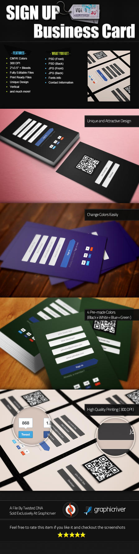 Sign Up Business Card Vol1 by Twist3dDNA
