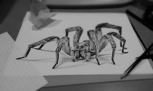 Black And White 3D Art