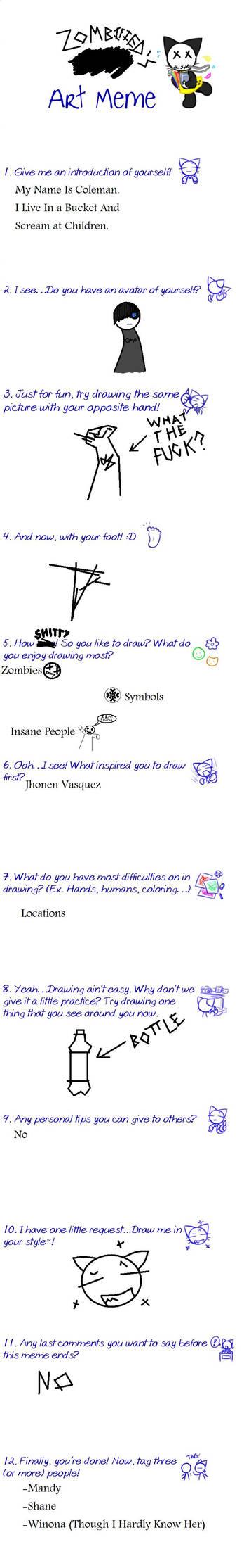 Zombified's Art meme