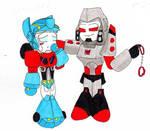 TFA Optimus and Megatron