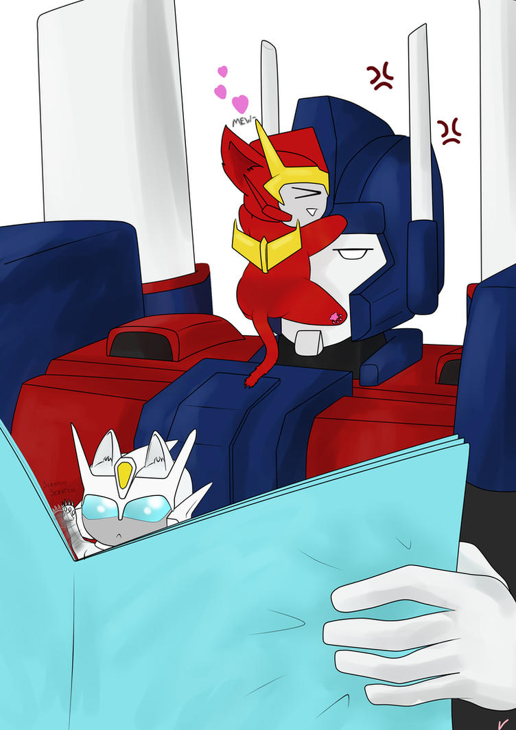 Ultra Magnus and his Kitties 01 by PurrV