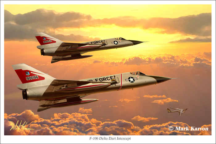 F-106 Delta Dart Intercept by markkarvon
