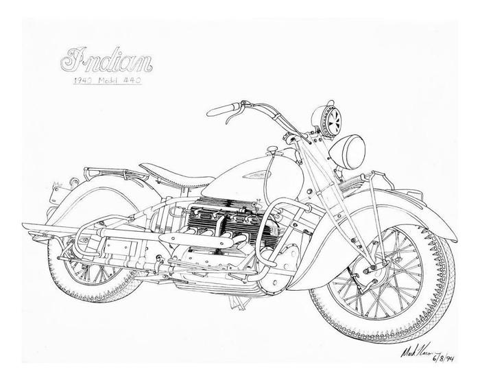 Line Art Motorcycle : Indian motorcycle line drawing hot girls wallpaper