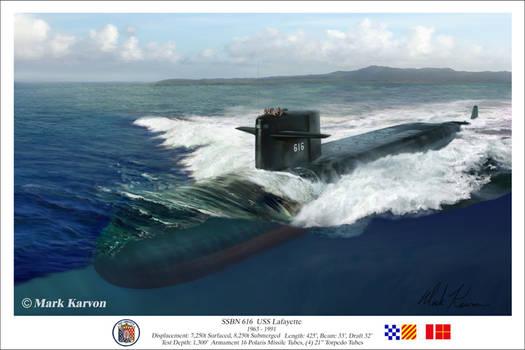 SSBN 616 USS Lafayette