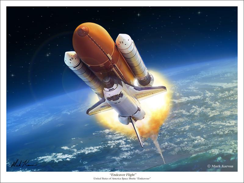 Endeavour Flight by markkarvon on DeviantArt