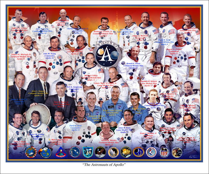 The Astronauts of Apollo by markkarvon on DeviantArt