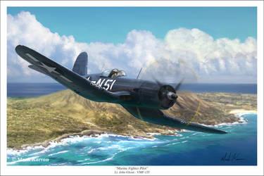Marine Fighter Pilot by markkarvon