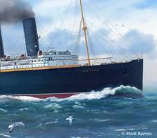 Lusitania Bow Detail by markkarvon