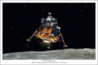 First True Spacecraft by markkarvon