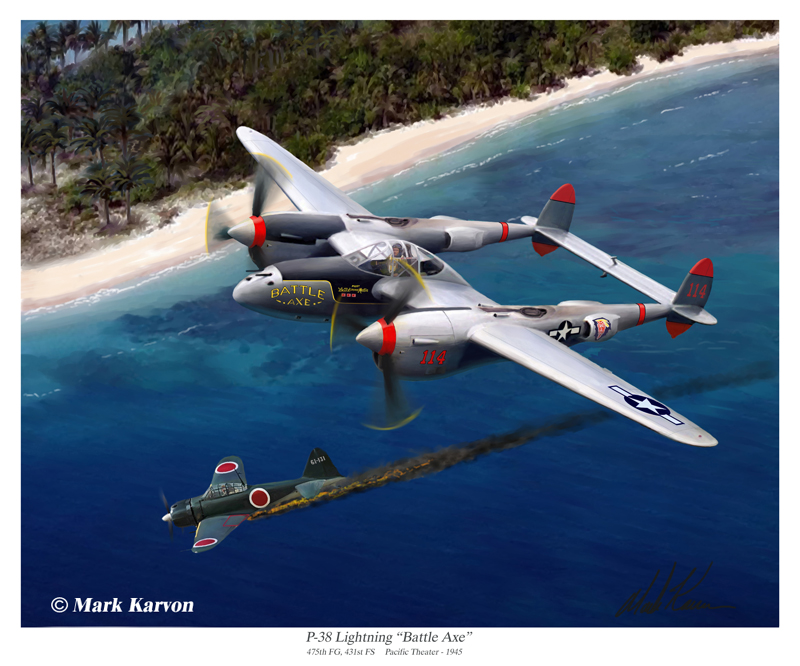 "P-38 Lighting ""Battle Axe"" by markkarvon"