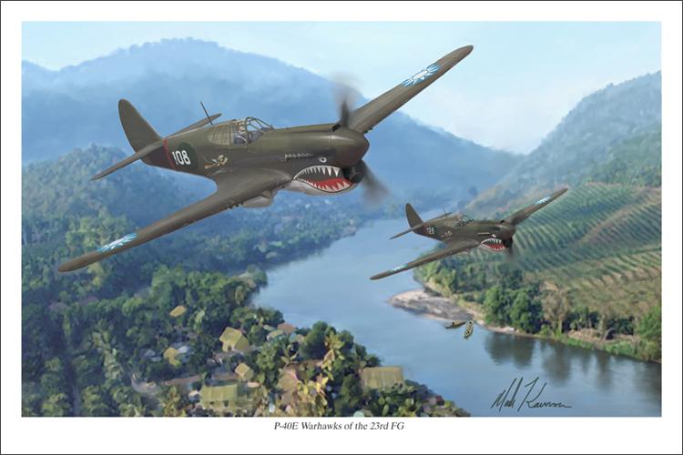 P-40 Warhawks of the 23rd FG by markkarvon