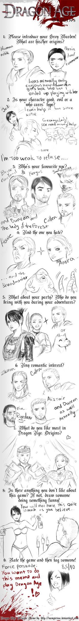 Dragon Age : origins meme by Norwen