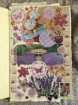 Purple Lavender. Collage #13 by 3u3a