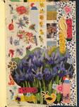 Blue Irises. Collage #20 by 3u3a