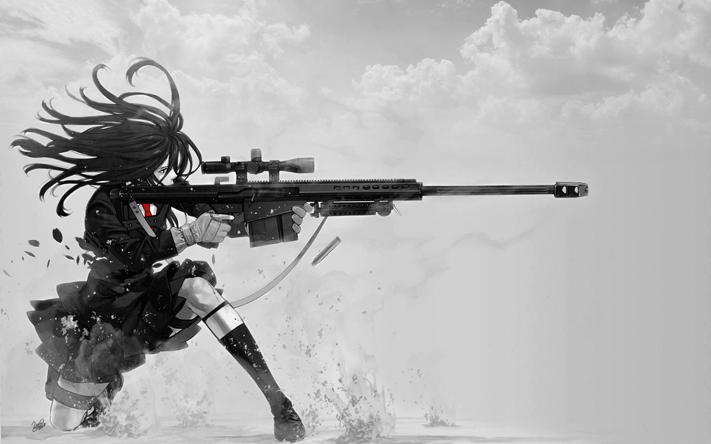 Sniper Schoolgirl Wallpaper 01 By PimplyPete