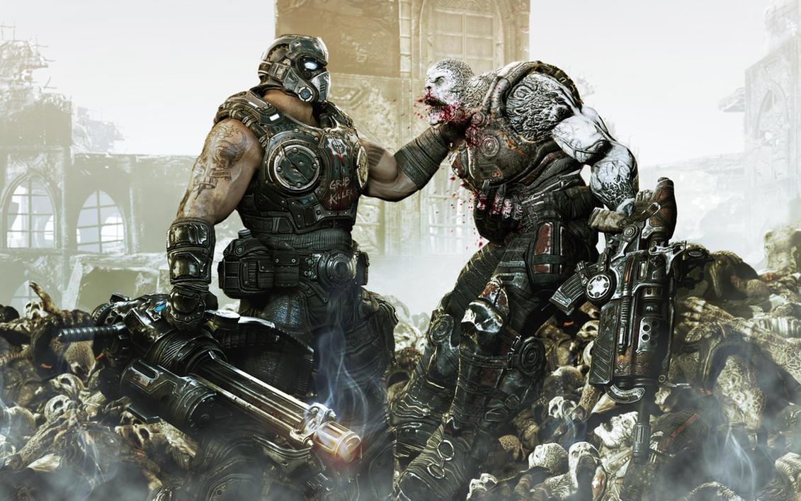 Clayton Carmine HD Wallpaper > Gears of War 3 Wallpaper 1440x