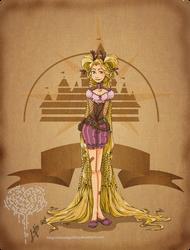 Disney steampunk:Rapunzel by MecaniqueFairy