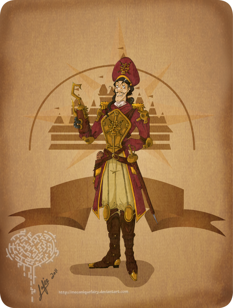 Ilustraciones steampunk Disney_steampunk__captain_hook_by_mecaniquefairy-d46apap