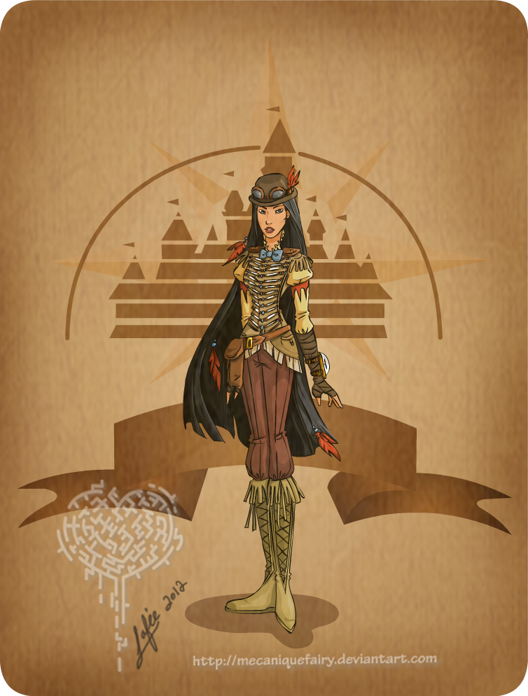Disney steampunk: Pocahontas by MecaniqueFairy