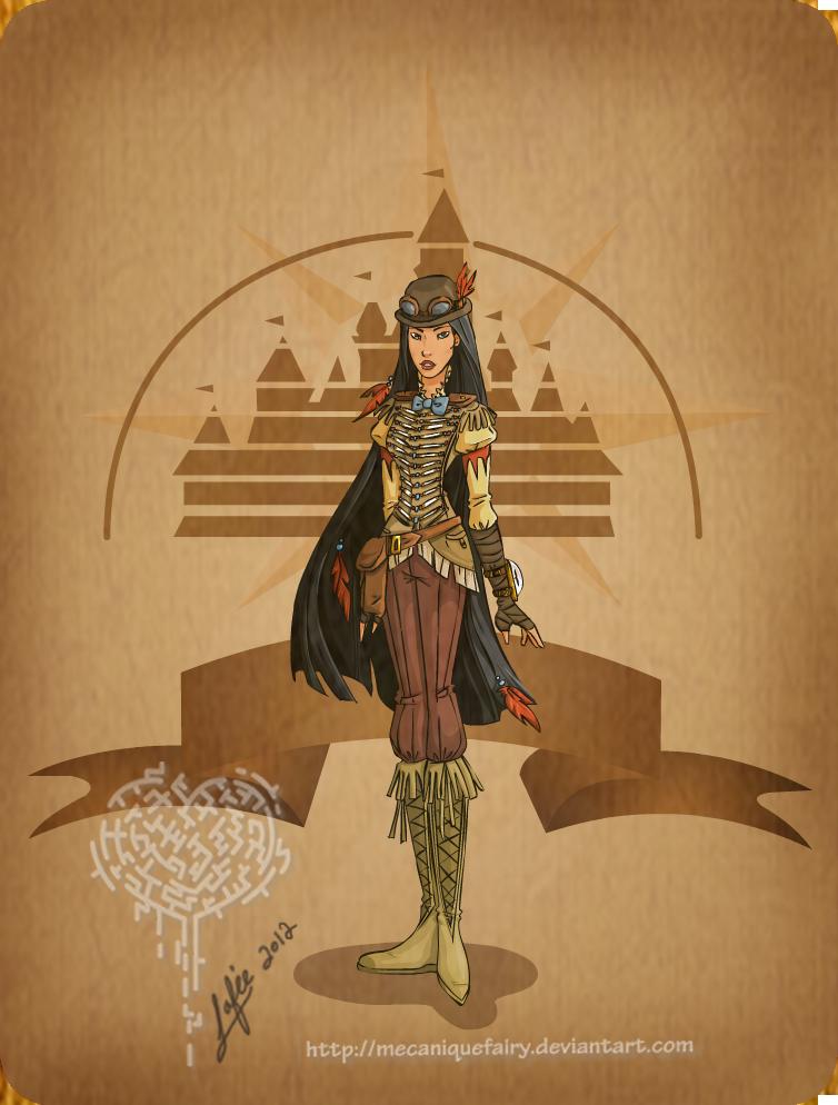 Disney steampunk: Pocahontas by MecaniqueFairy