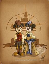 Disney steampunk: Mickey et Minnie by MecaniqueFairy