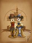 Disney steampunk: Mickey et Minnie