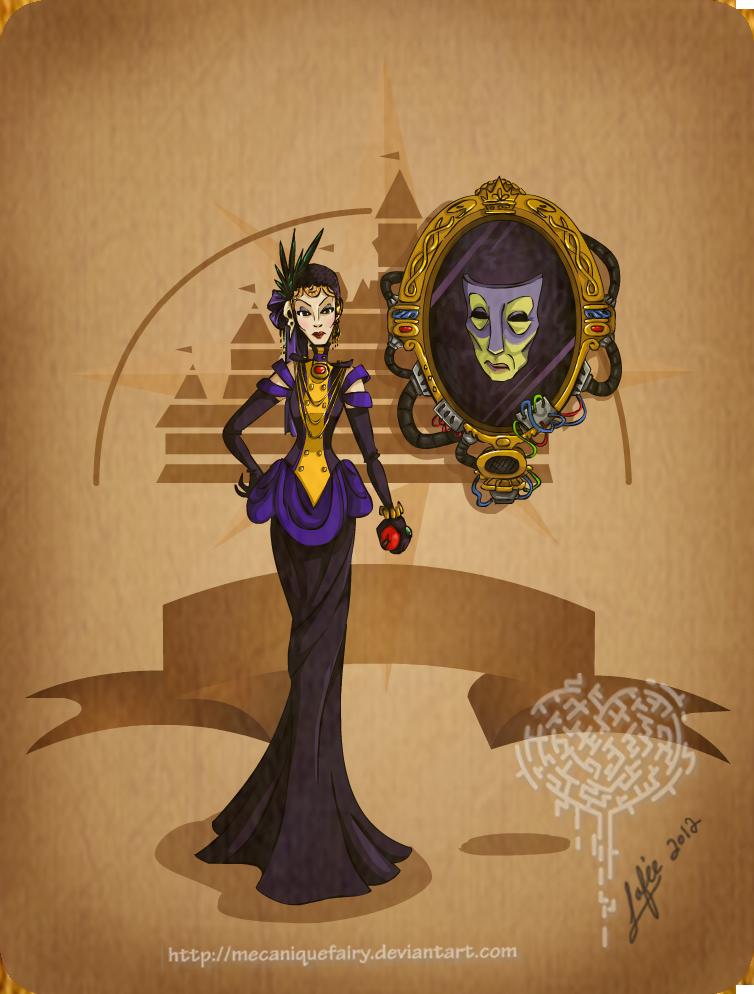 Disney steampunk: Evil queen by MecaniqueFairy
