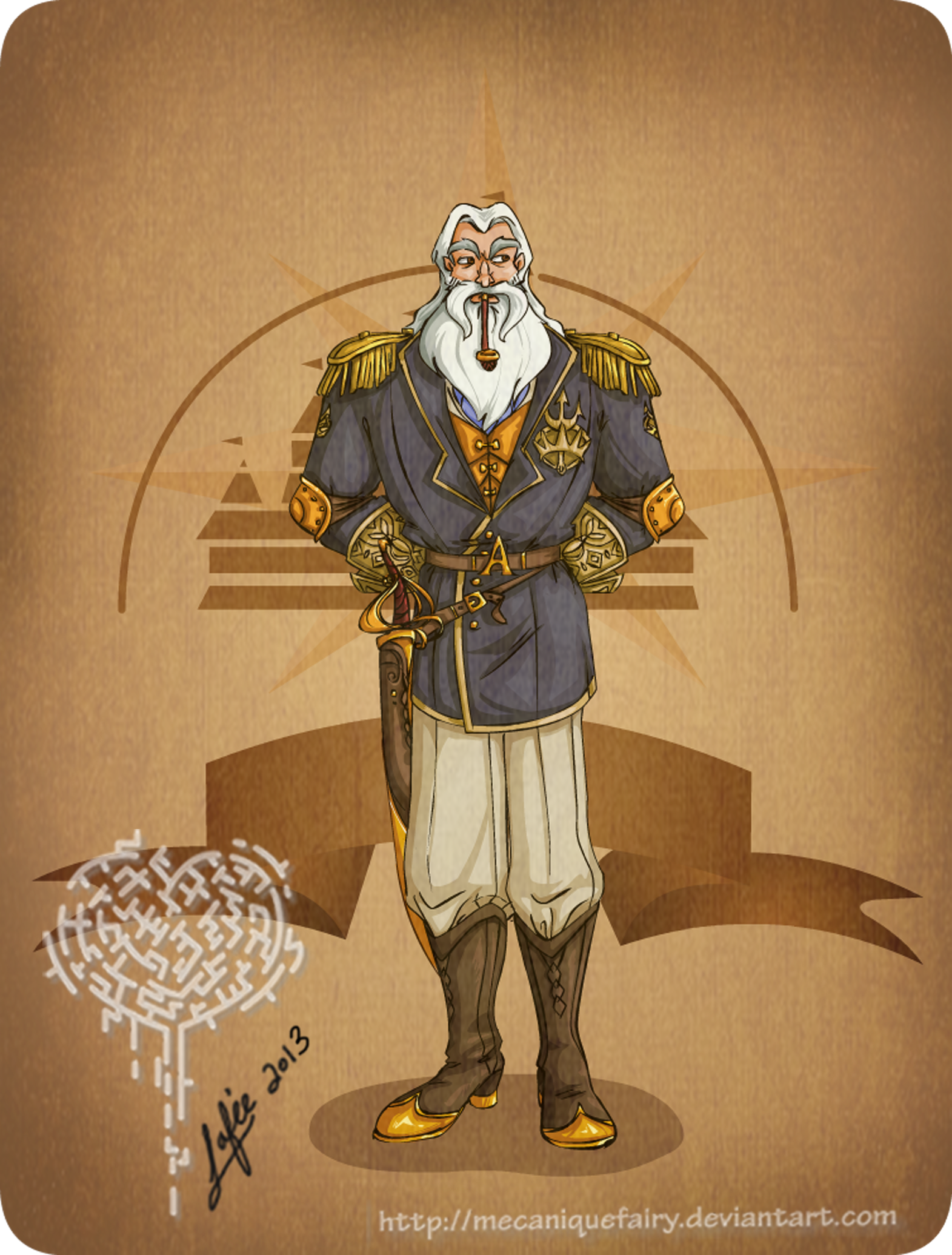 Disney steampunk: King Triton by MecaniqueFairy