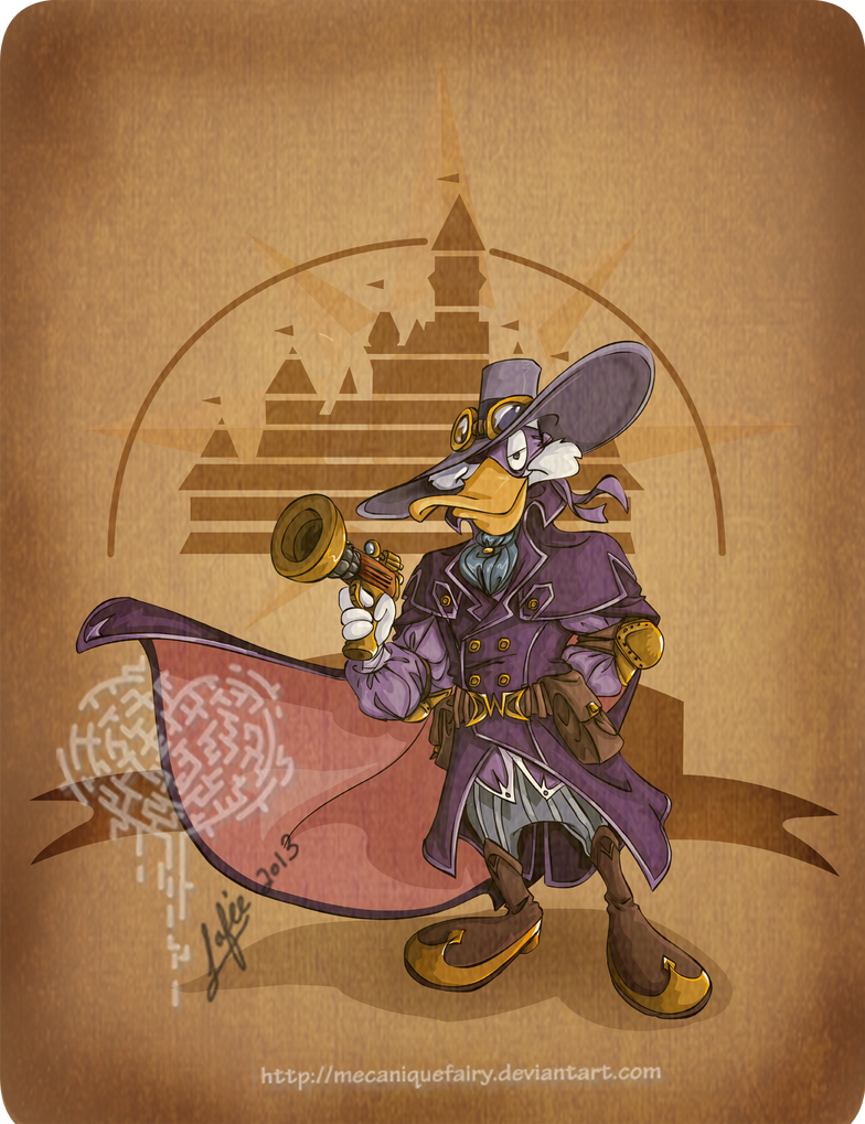 Disney steampunk: Darkwing Duck by MecaniqueFairy