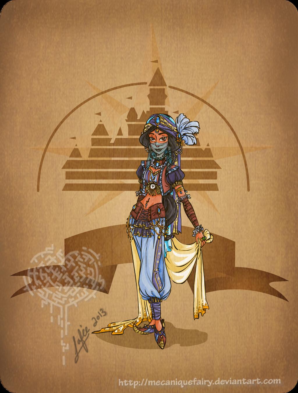 Disney steampunk: Jasmine by MecaniqueFairy
