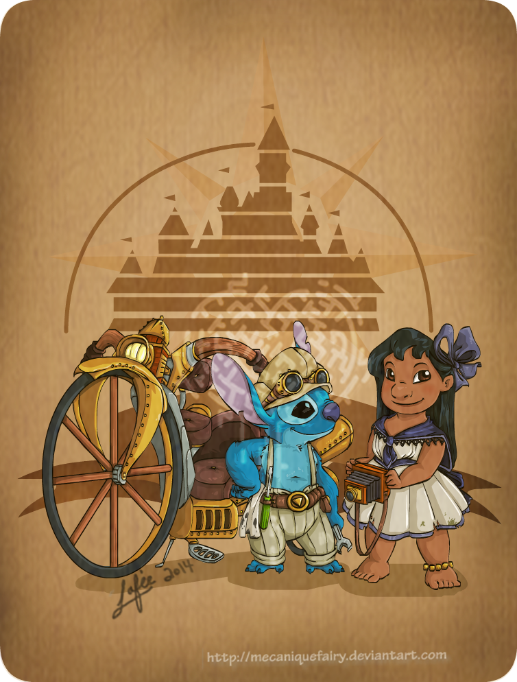 Disney steampunk: Lilo and Stitch by MecaniqueFairy