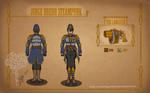 Commission Steampunk Judge Dredd by MecaniqueFairy